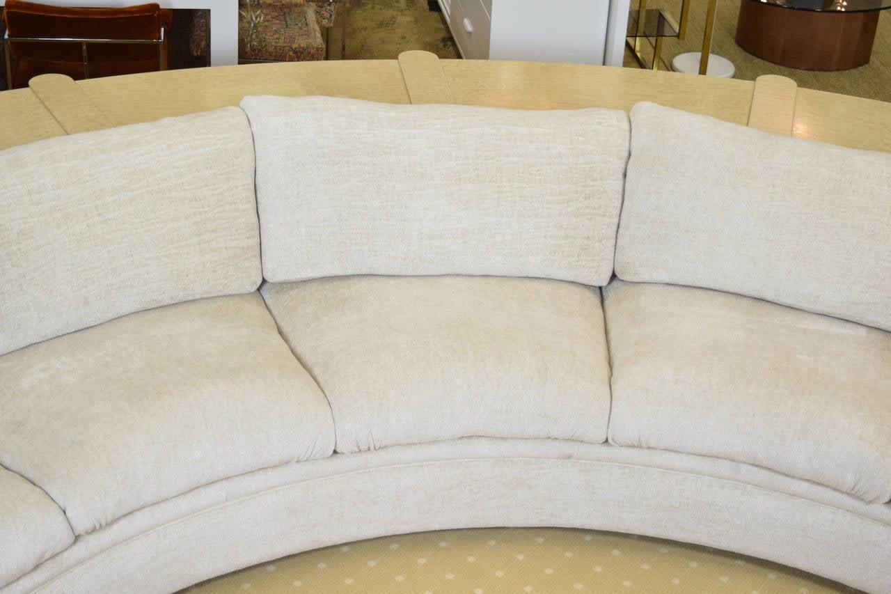 gorgeous martin brattrud custom sofa with fitted console Cane Back Furniture Barrel Back Sofa
