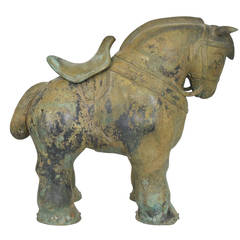 Botero Styled Horse Sculpture in Bronze