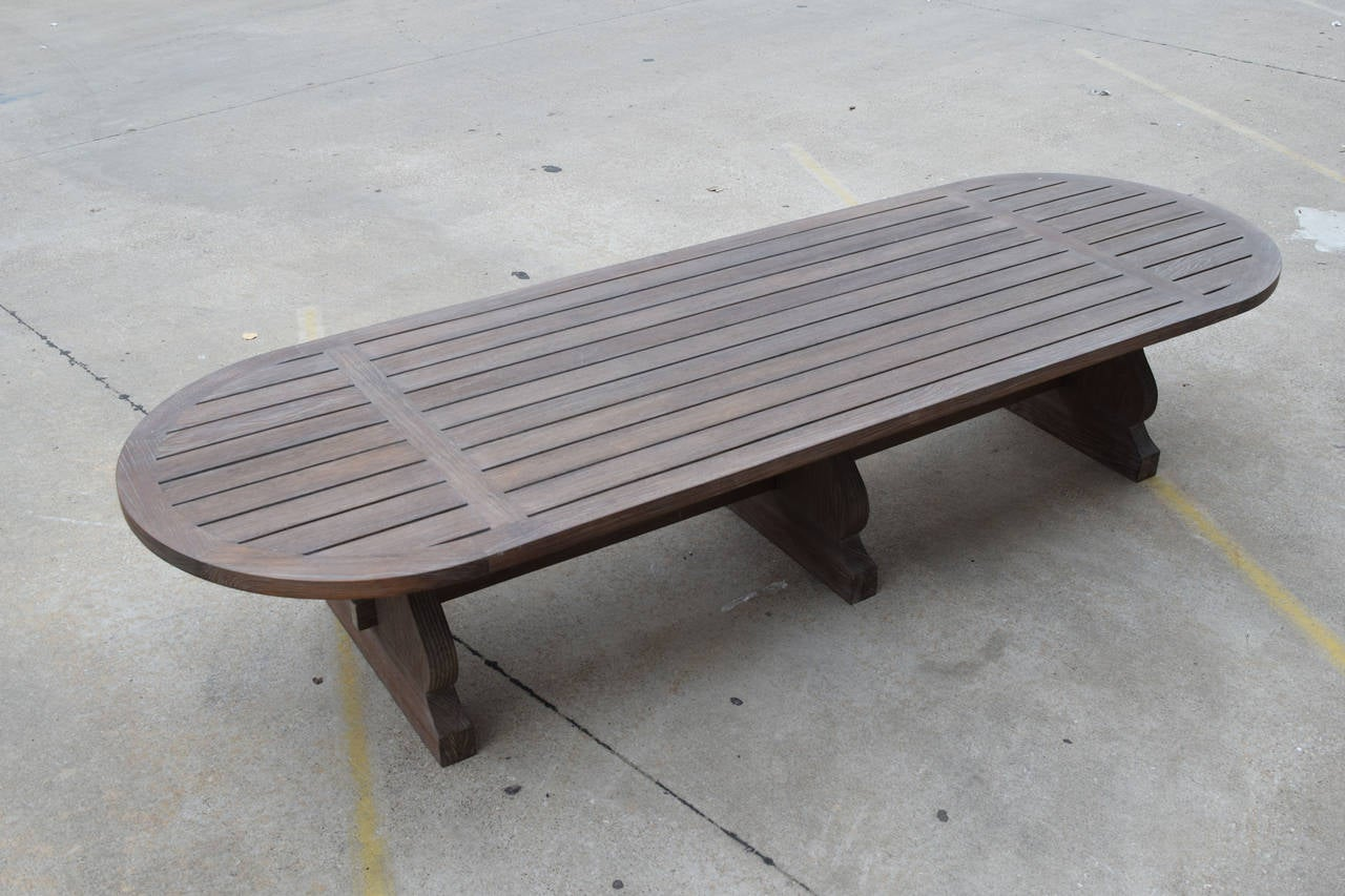 Contemporary Custom Indoor or Outdoor Dining Table by Sutherland