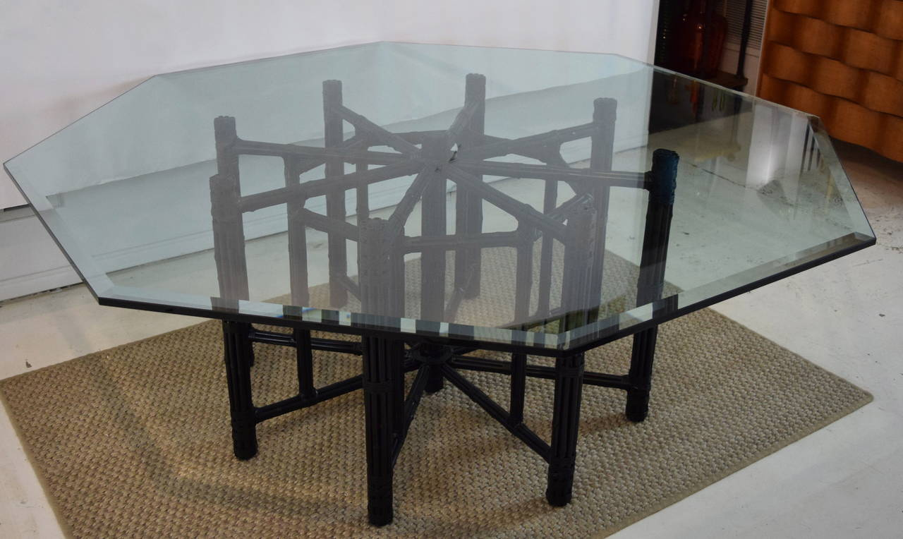 McGuire Bamboo Table with Octagon Glass Top at 1stdibs : DSC0160l from www.1stdibs.com size 1280 x 764 jpeg 106kB