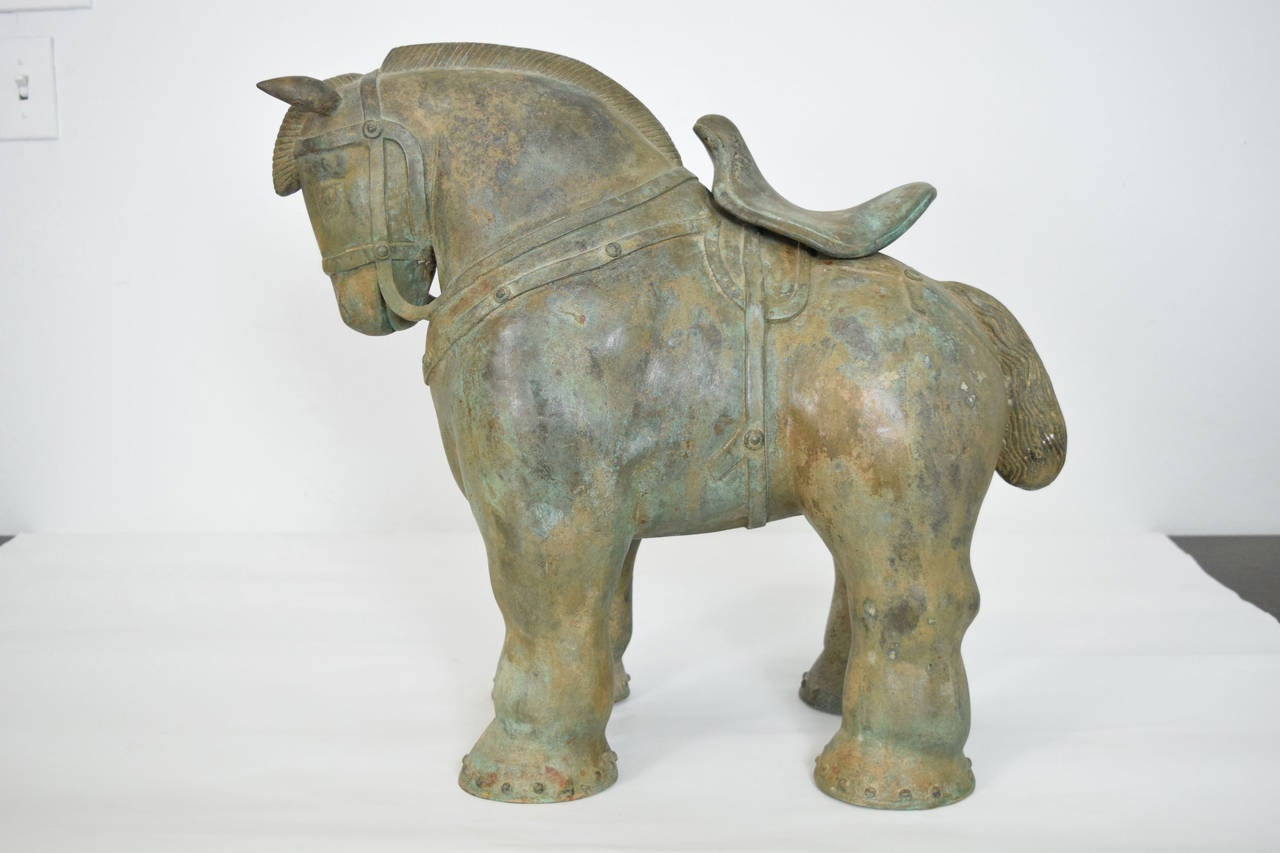 Botero Styled Horse Sculpture in Bronze In Good Condition For Sale In Dallas, TX
