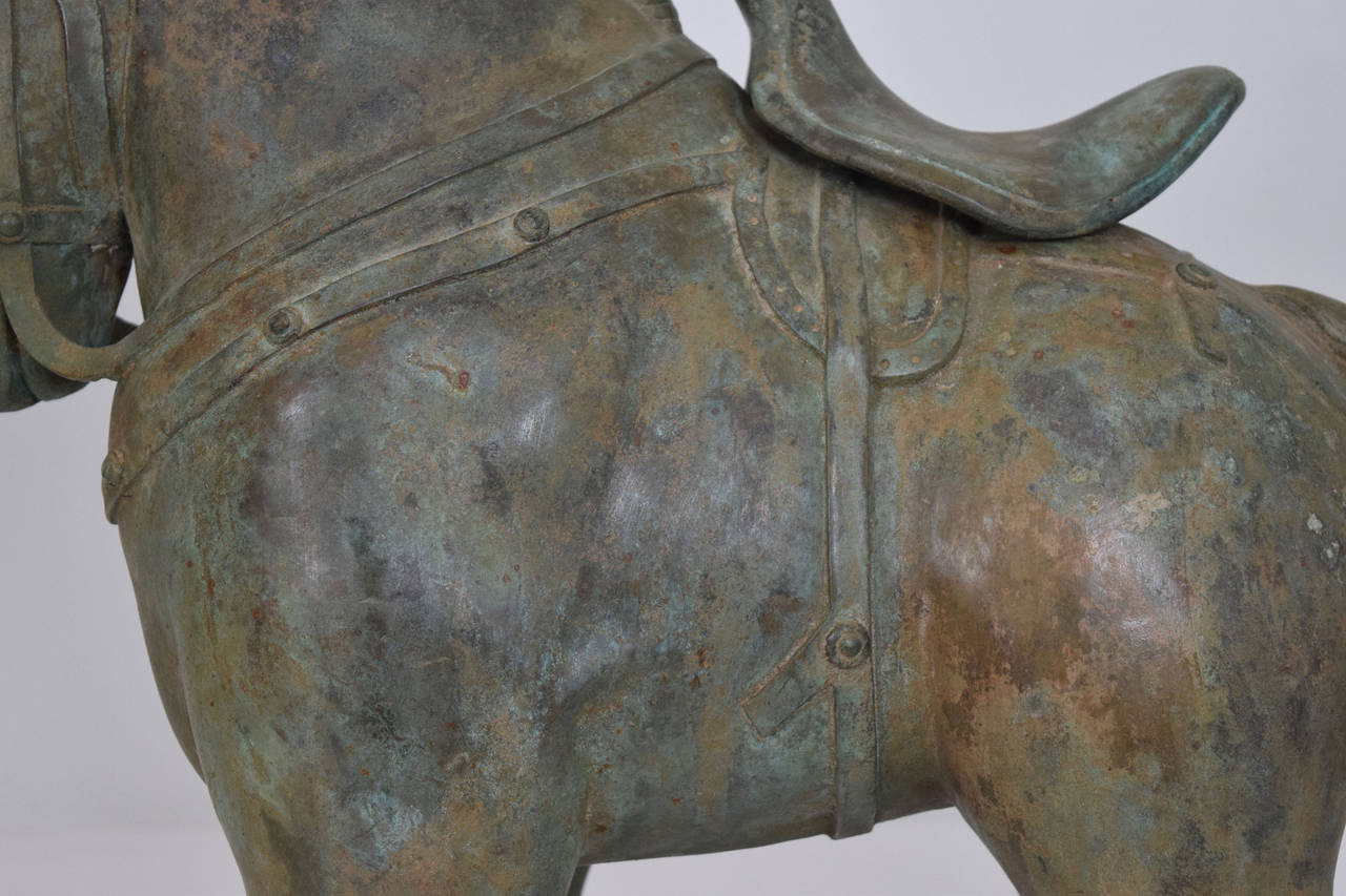 Botero Styled Horse Sculpture in Bronze For Sale 1