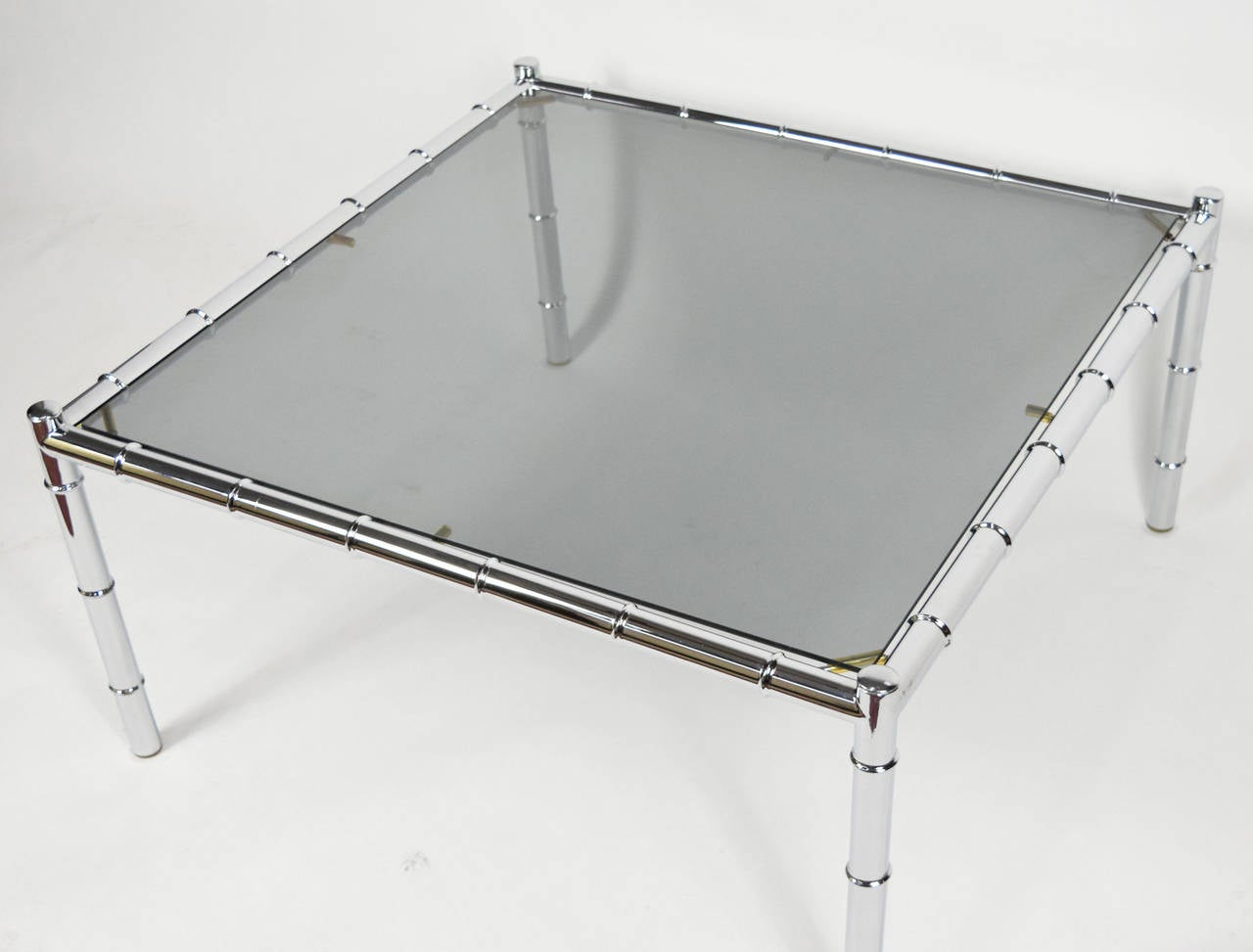 adrian pearsall coffee table in faux bamboo chrome at 1stdibs