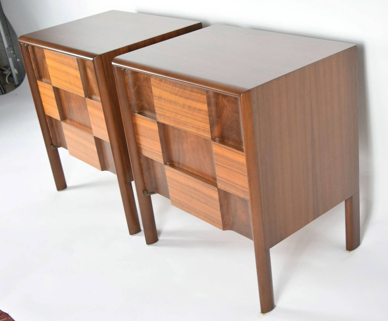 Mid-Century Modern Edmond Spence Nightstands Made in Sweden For Sale