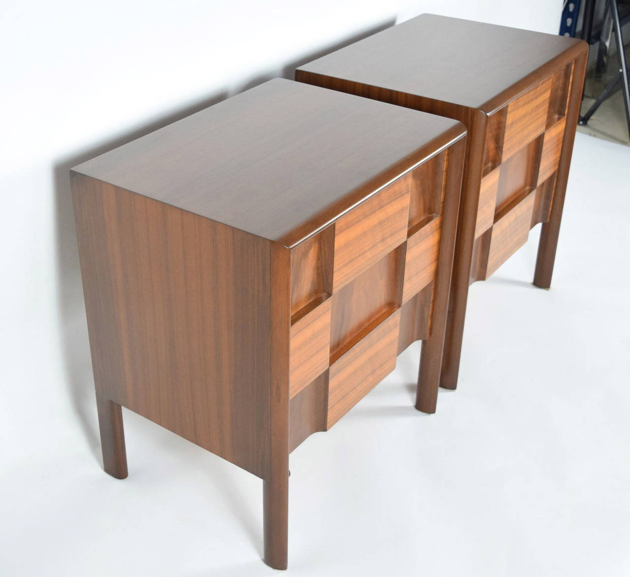 Mid-20th Century Edmond Spence Nightstands Made in Sweden For Sale