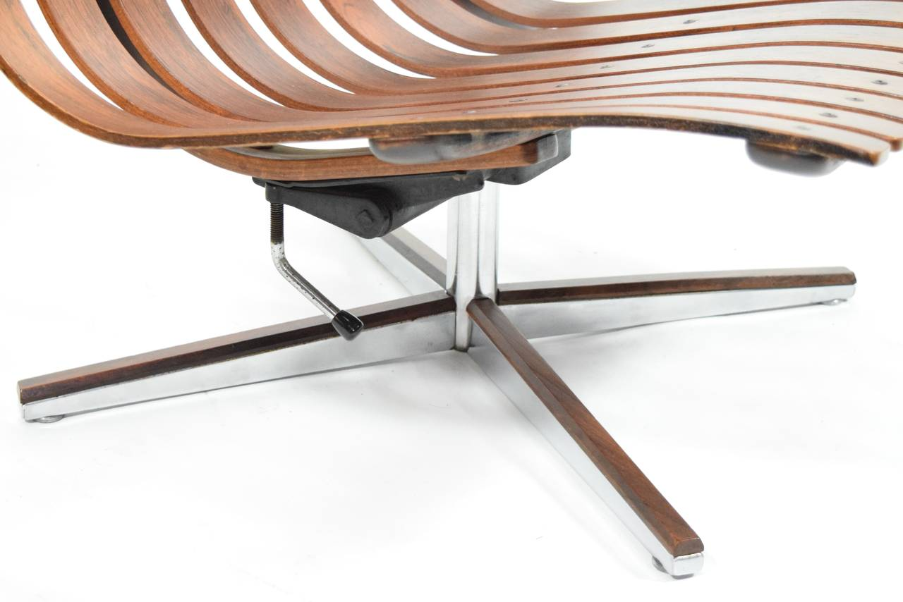Hans Brattrud Scandia Swivel Lounge Chair for Hove Mobler in