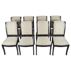 Fremarc Embassy Dining Chairs, Set of Eight, Espresso and Taupe