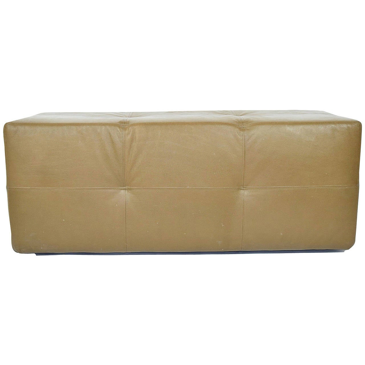 """Custom Bench in Great Plains """"Stingray"""" Leather with Paris Seam Stitching"""