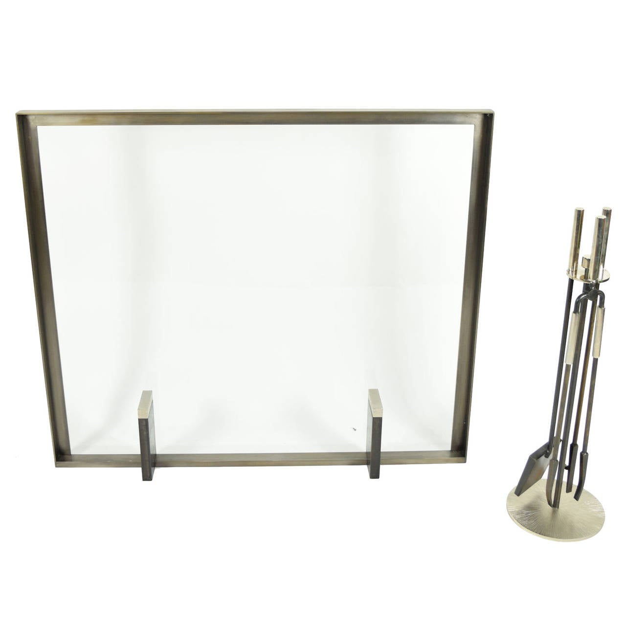tuell and fireplace screen and tool set for sale