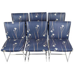 Milo Baughman Dining Chairs in Chrome