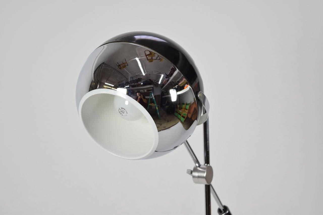 george kovacs attributed adjustable chrome floor lamp for sale at. Black Bedroom Furniture Sets. Home Design Ideas