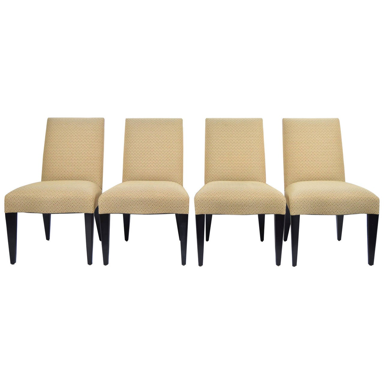 Set Of Four Donghia Serpentine Dining Chairs 1