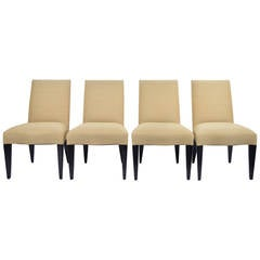 Set of Four Donghia Serpentine Dining Chairs