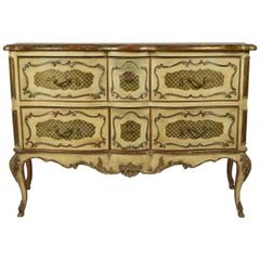 Italian Rococo Style Painted Commode
