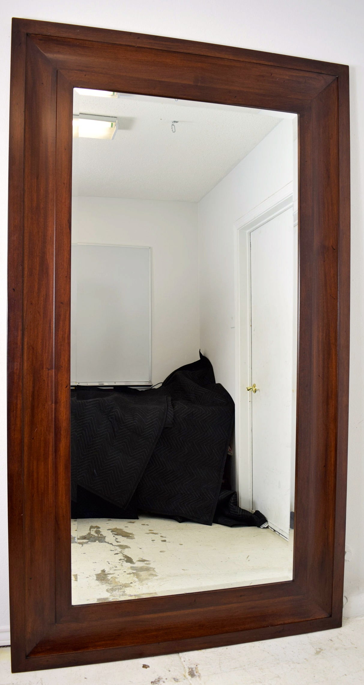 Custom Very Large Mahogany Frame Wall Mirror At 1stdibs