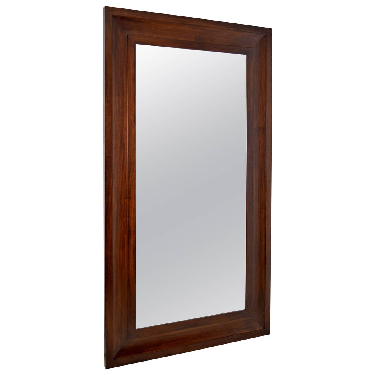 Custom very large mahogany frame wall mirror at 1stdibs for Tall framed mirror