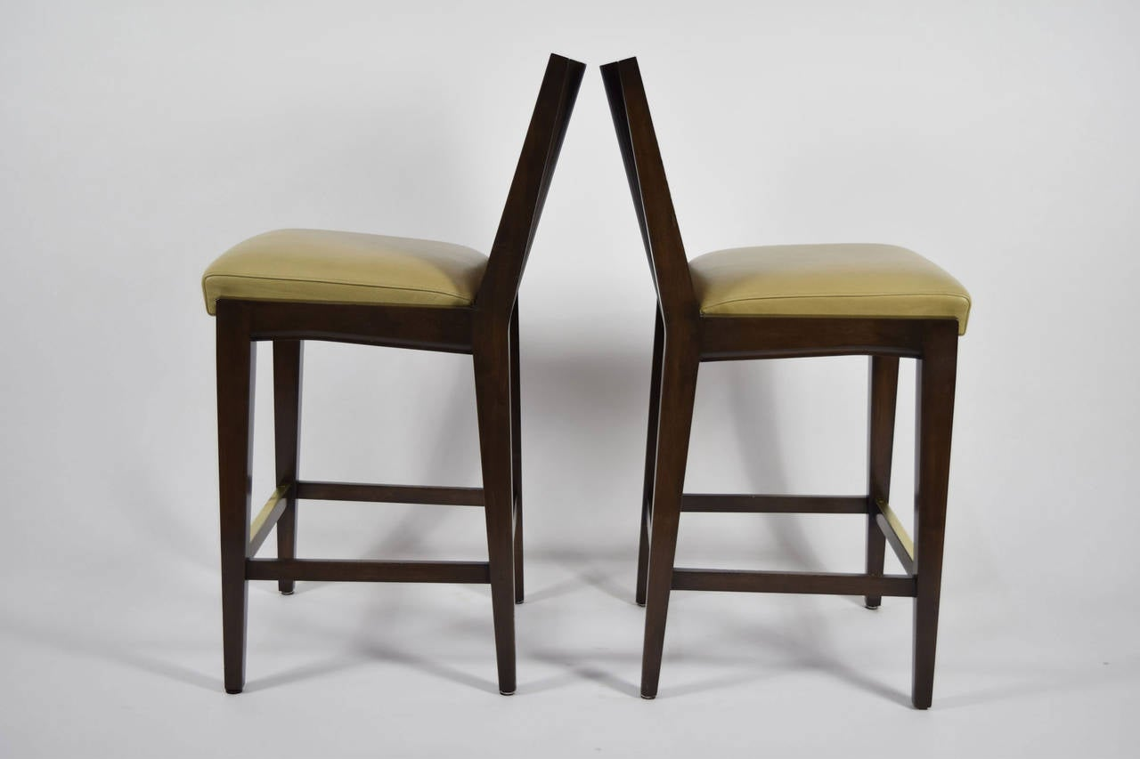 """Pair of """"Kenya"""" Counterheight Barstools by Axis In Good Condition For Sale In Dallas, TX"""