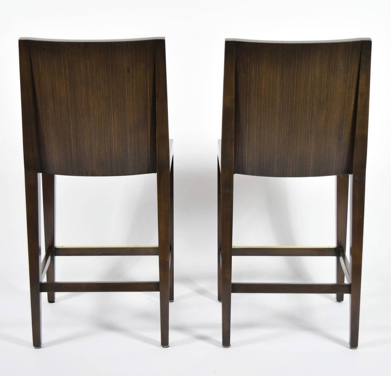 """American Pair of """"Kenya"""" Counterheight Barstools by Axis For Sale"""