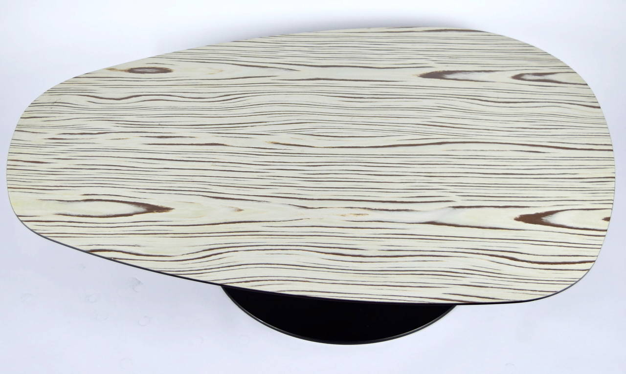 Coffee table designed by Patricia Urquiola in 2004, manufactured by Moroso. Table has steel base and wood laminate top. High quality !
