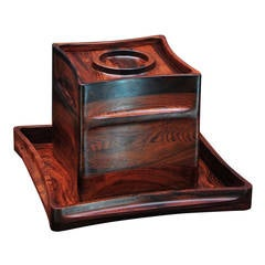 Midcentury Jens Harald Quistgaard Brazilian Rosewood Ice Bucket & Matching Tray
