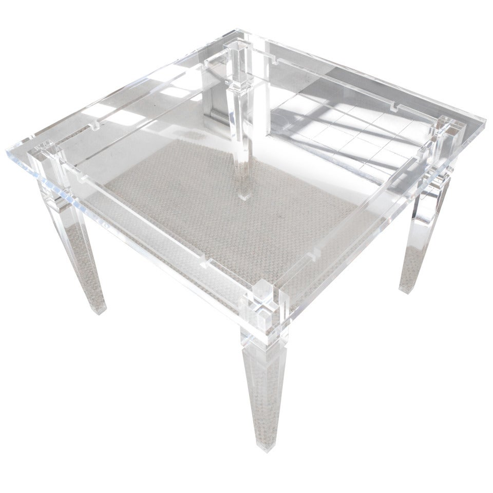 acrylic dining game table at 1stdibs. Black Bedroom Furniture Sets. Home Design Ideas