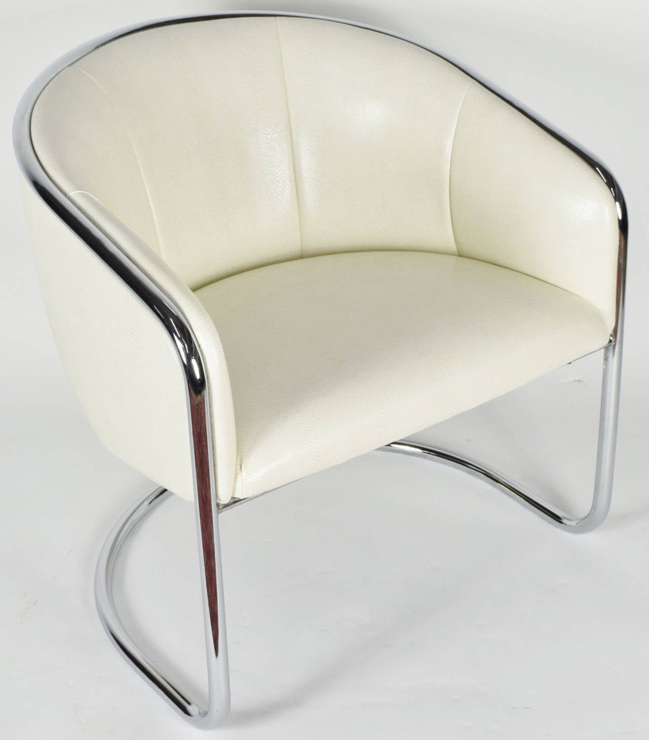 This is a beautifully restored chair by Thonet. New upholstery and cushioning. In a faux snakeskin print.