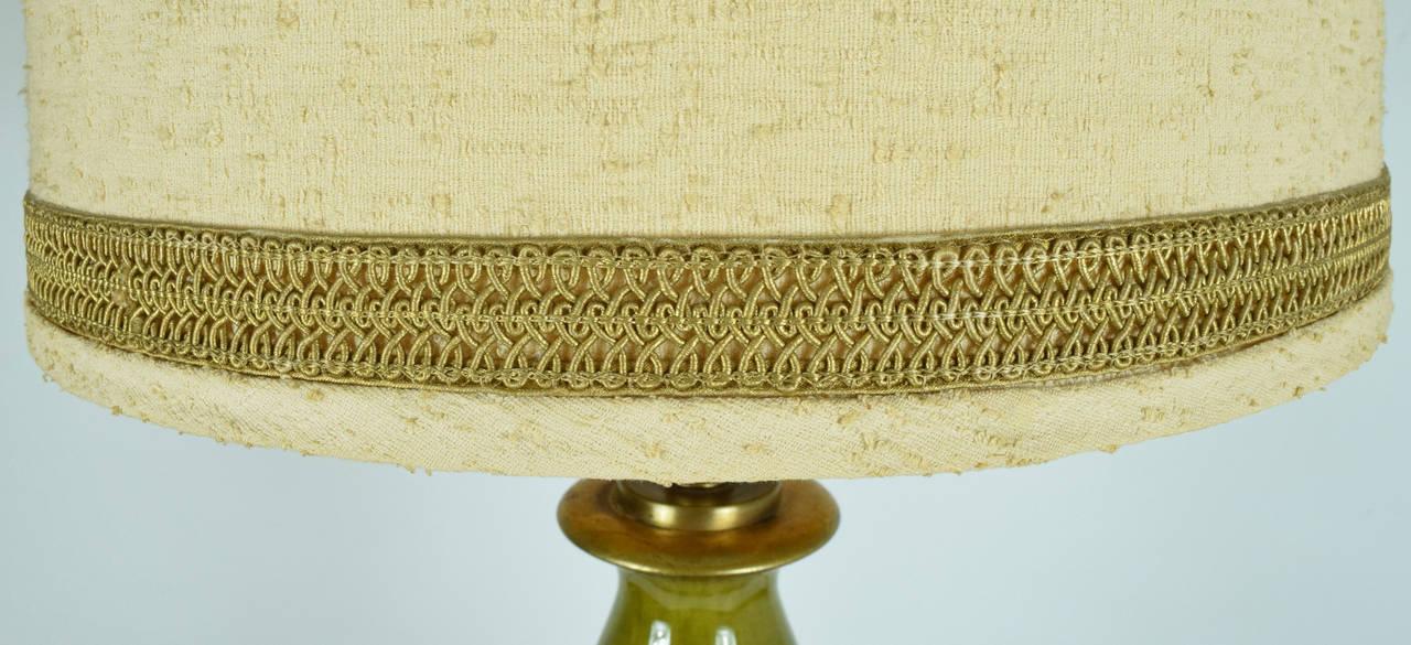 Beautiful Monumental Ceramic Glaze Lamp In Excellent Condition For Sale In Dallas, TX