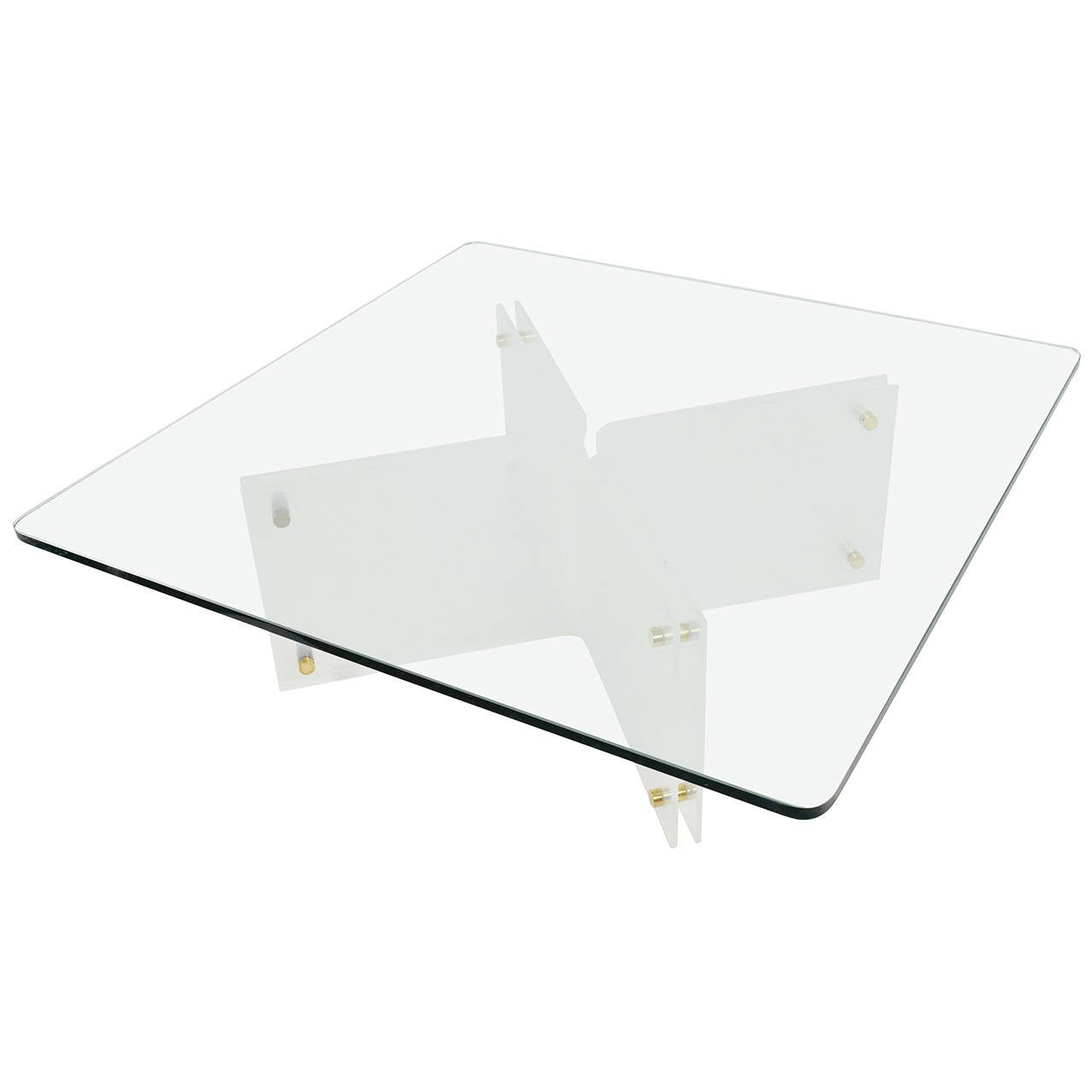 Large Glass And Acrylic Coffee Table By Neal Small For Sale At 1stdibs