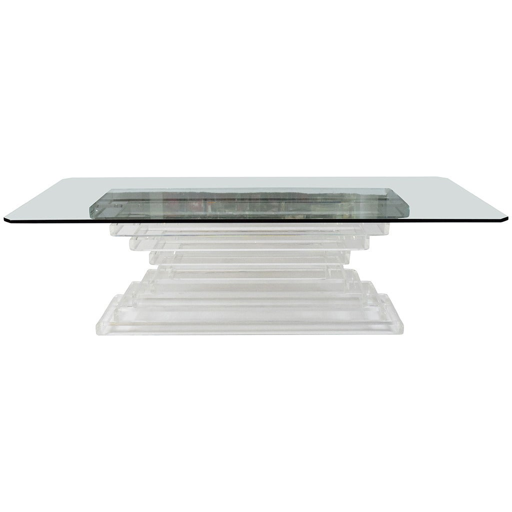 Lucite stacked dining tableconsole base at 1stdibs lucite stacked dining tableconsole base 1 geotapseo Choice Image