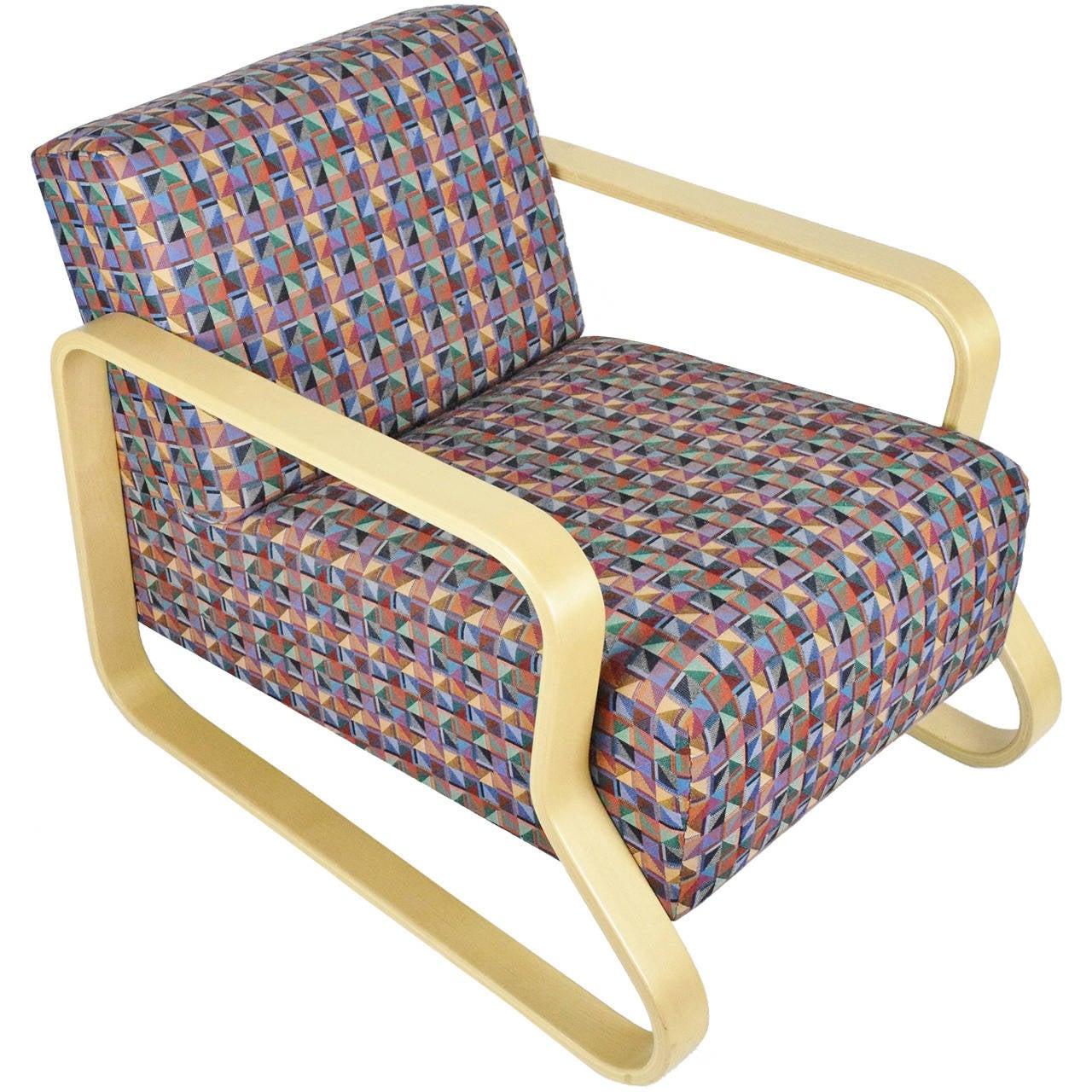 Alvar Aalto for Artek Lounge Armchair 44 For Sale