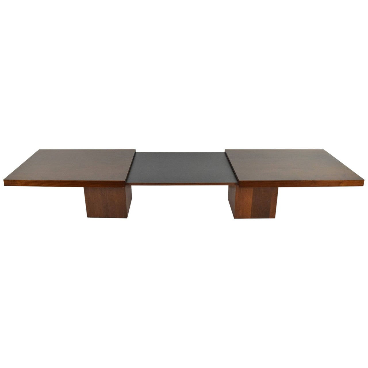 Extendable Walnut Coffee Table By John Keal At 1stdibs