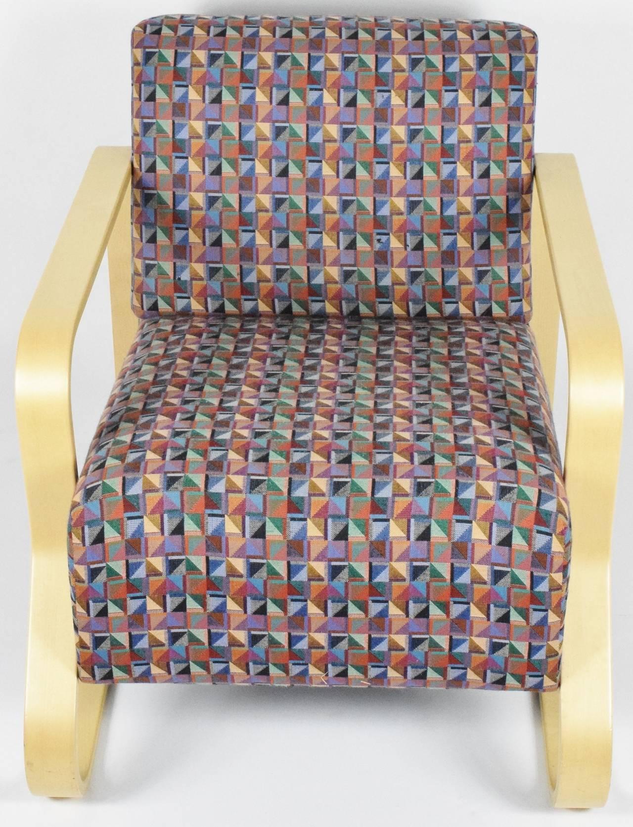Mid-Century Modern Alvar Aalto for Artek Lounge Armchair 44 For Sale