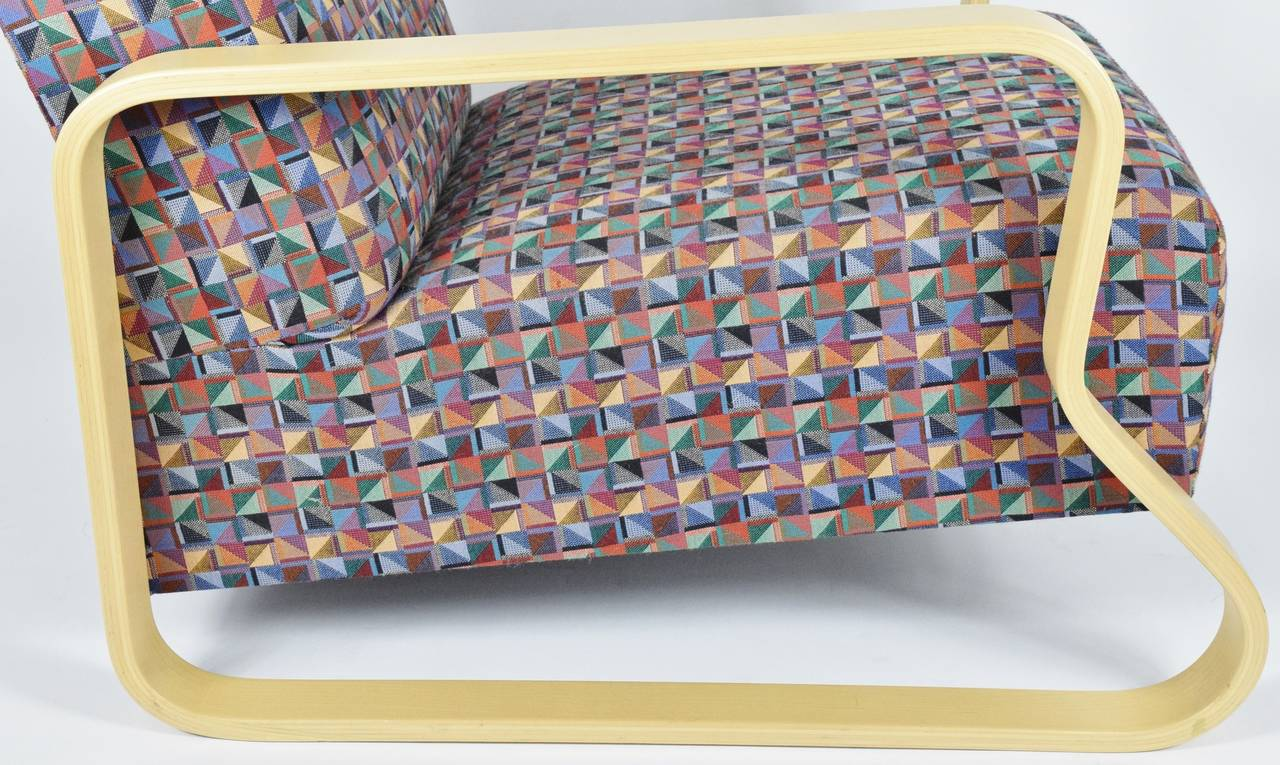 20th Century Alvar Aalto for Artek Lounge Armchair 44 For Sale