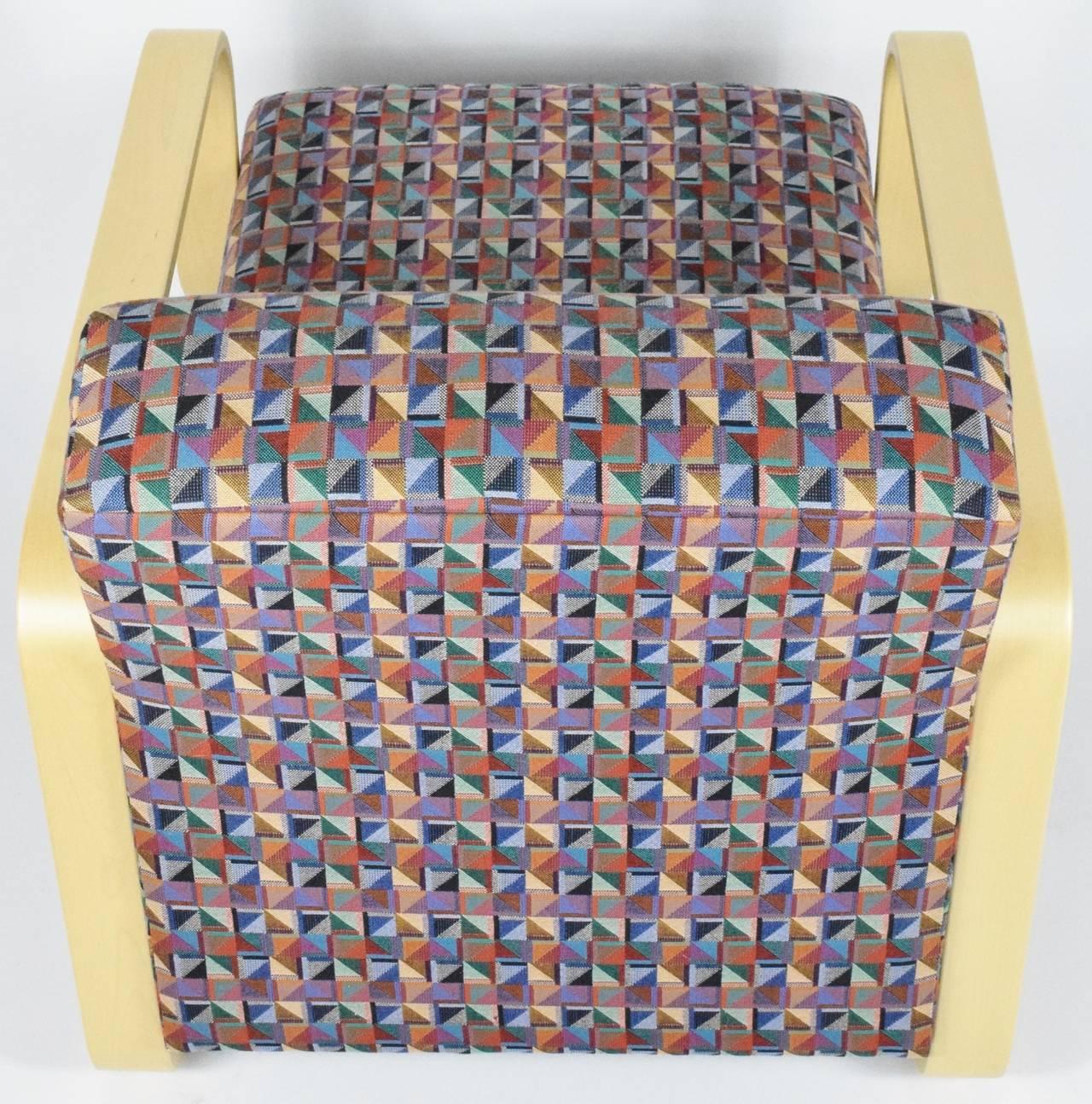 Upholstery Alvar Aalto for Artek Lounge Armchair 44 For Sale