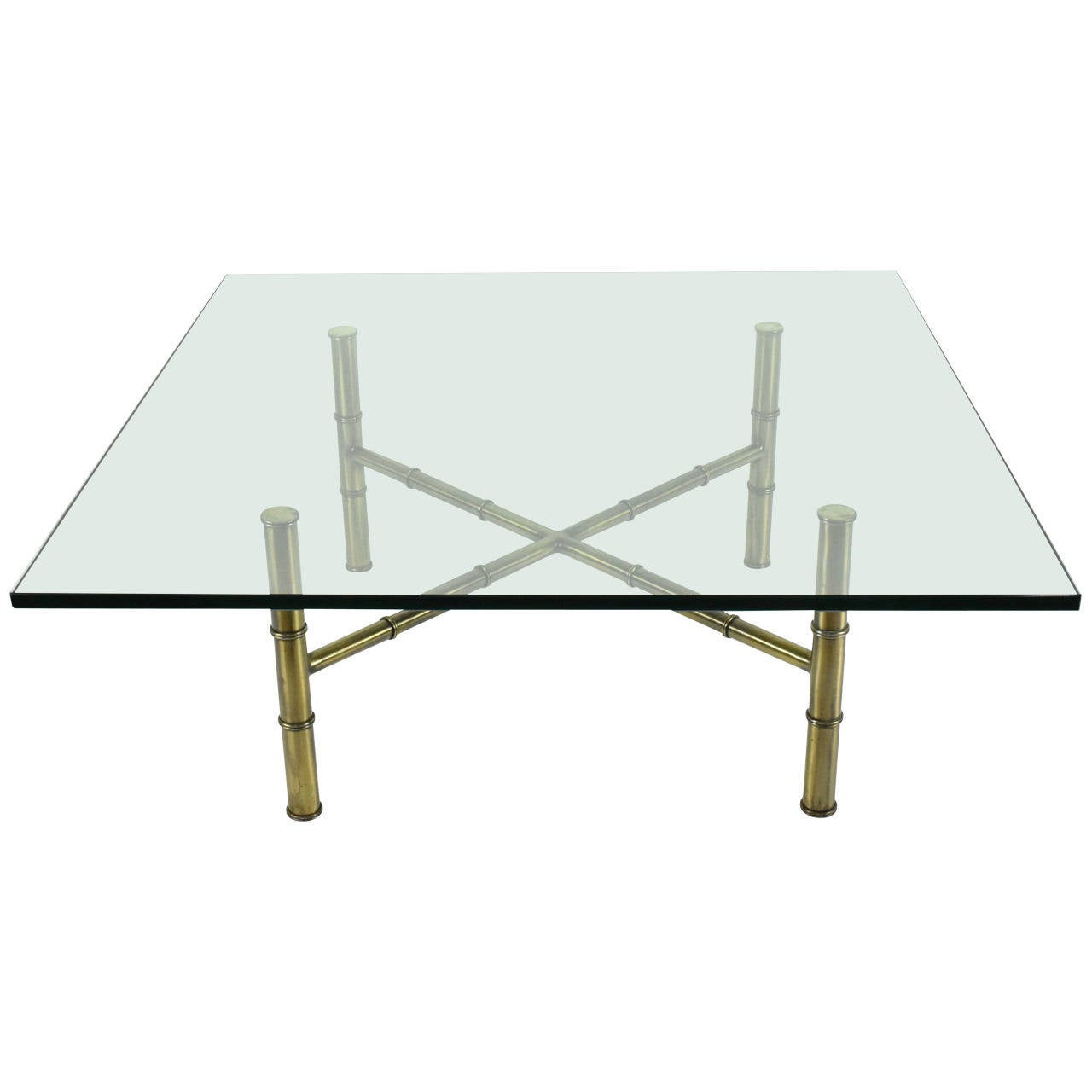 Mastercraft Faux Bamboo Coffee Table For Sale