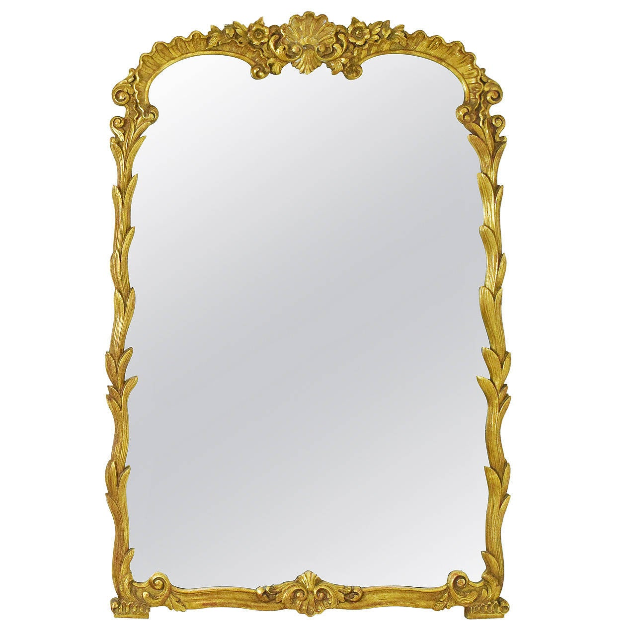 French gilt wood mirror at 1stdibs for French mirror