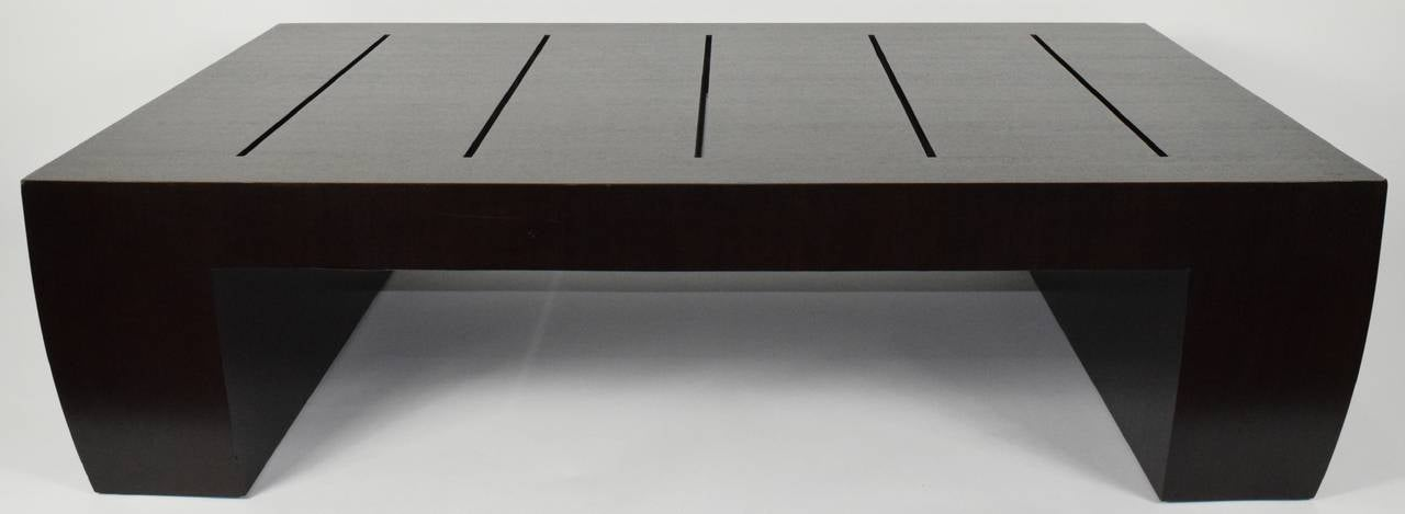 """""""Clifton Road"""" Mahogany Coffee Table by Terry Hunziker in Espresso Finish In Excellent Condition For Sale In Dallas, TX"""