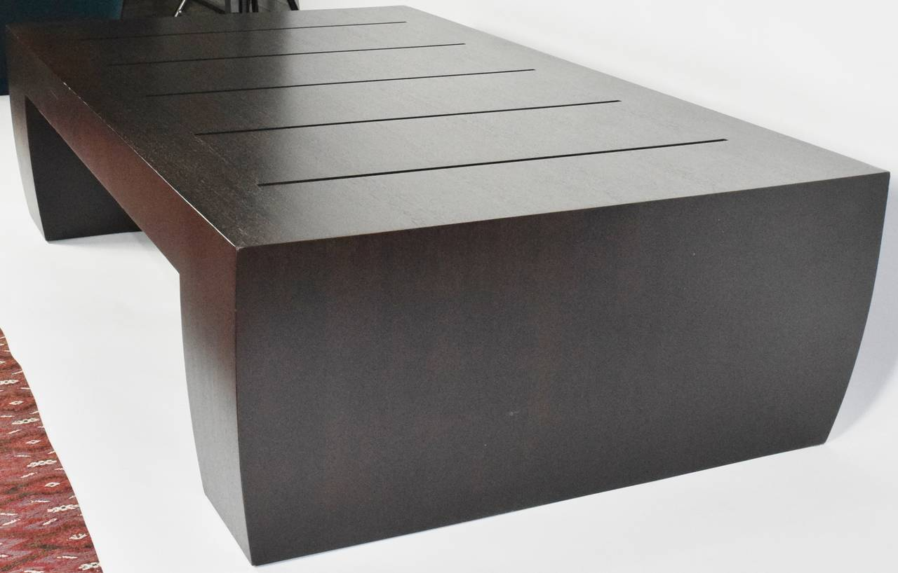 """Modern """"Clifton Road"""" Mahogany Coffee Table by Terry Hunziker in Espresso Finish For Sale"""