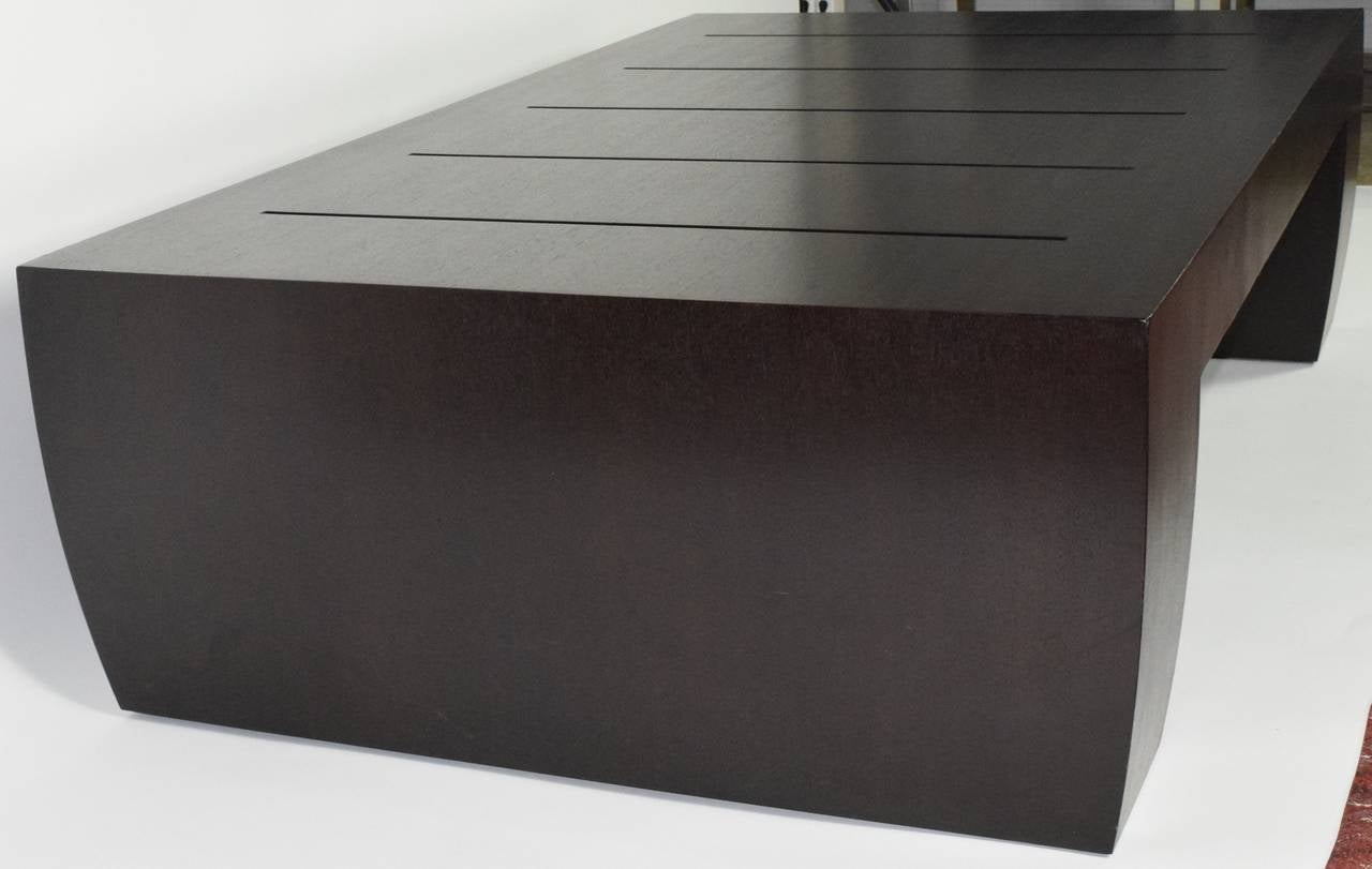 """American """"Clifton Road"""" Mahogany Coffee Table by Terry Hunziker in Espresso Finish For Sale"""