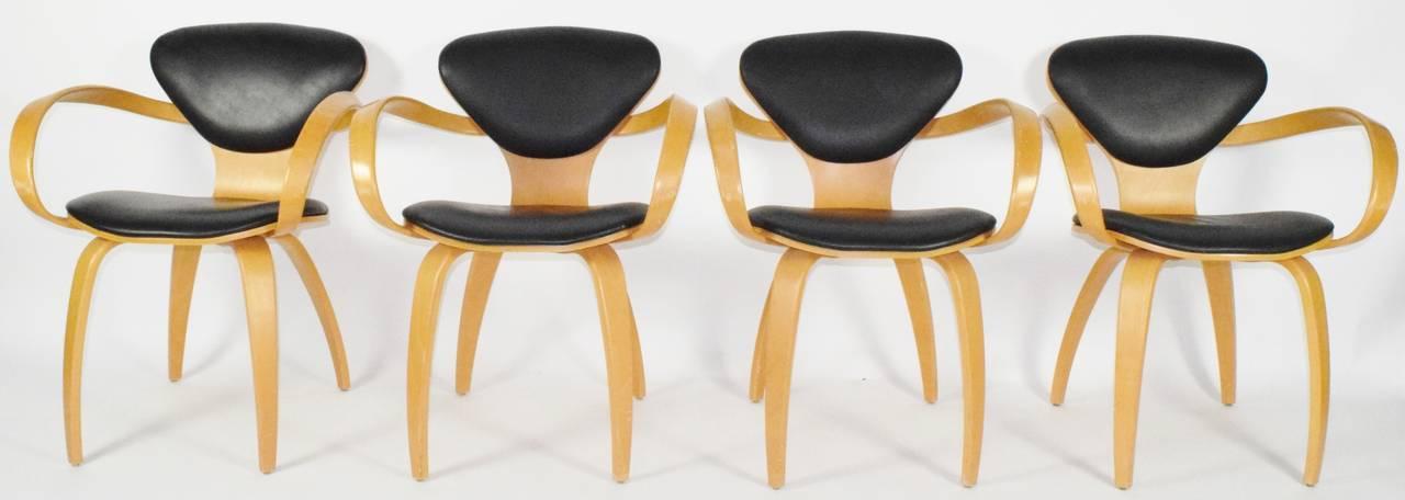 norman cherner pretzel chairs for plycraft 2