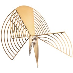 Golden Wings of Steel Chair, Designed by Laurie Beckerman in 2012