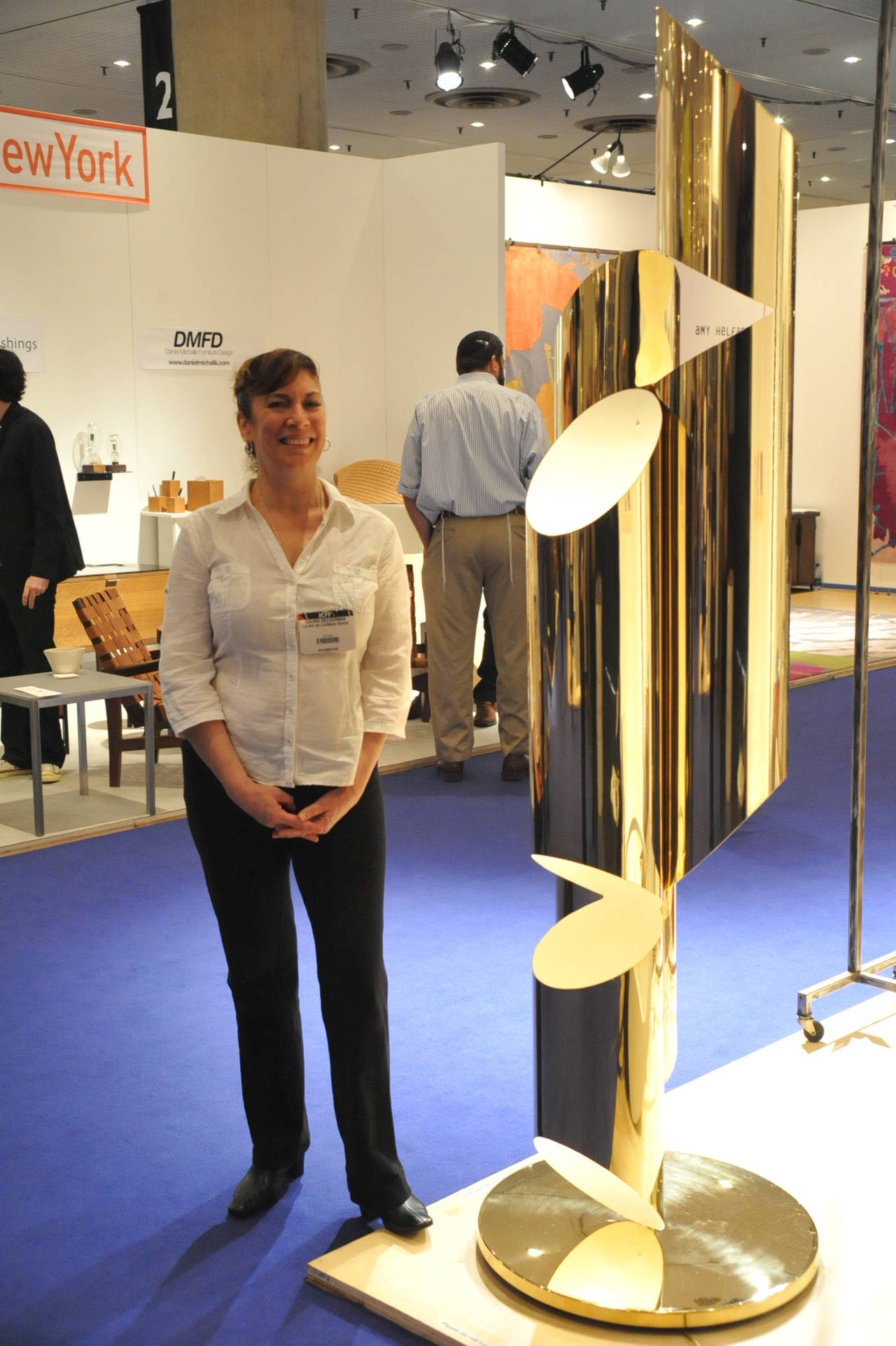 Tall Brass Whistle Lamp, Designed by Laurie Beckerman in 2009 For Sale 1