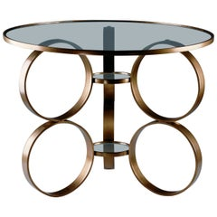 Brass Ring Table Designed by Laurie Beckerman