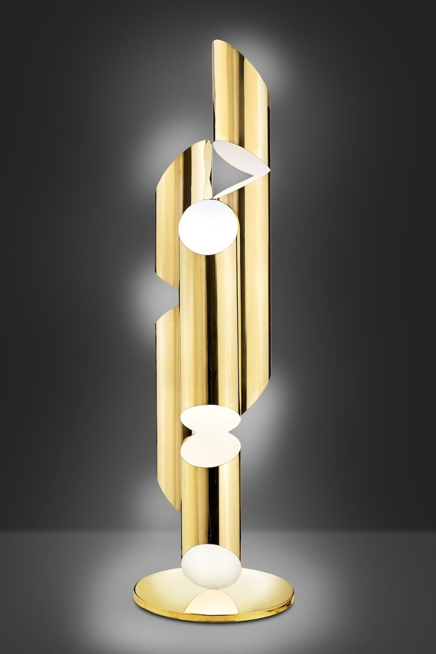 Modern Tall Brass Whistle Lamp, Designed by Laurie Beckerman in 2009 For Sale