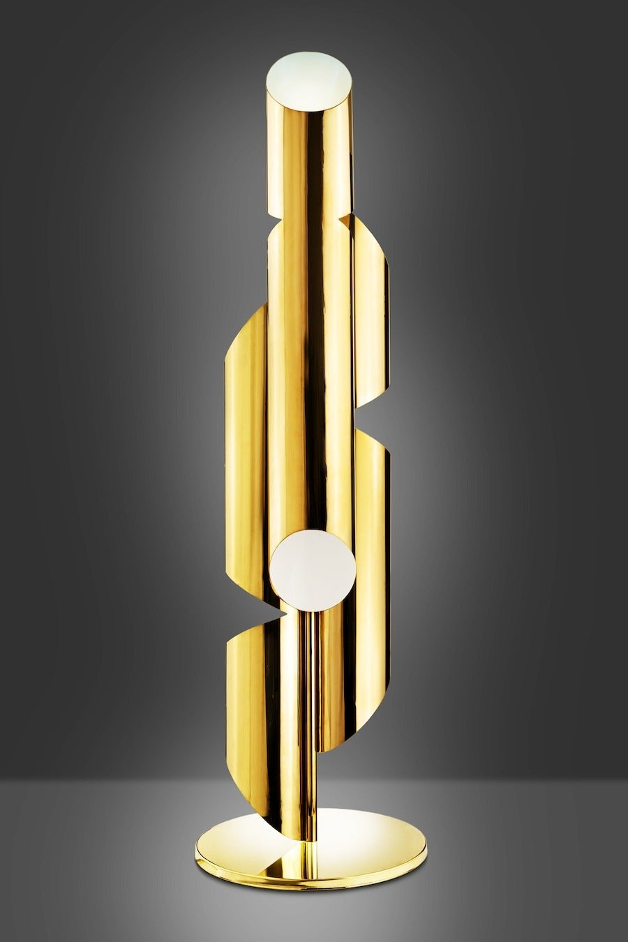 American Tall Brass Whistle Lamp, Designed by Laurie Beckerman in 2009 For Sale