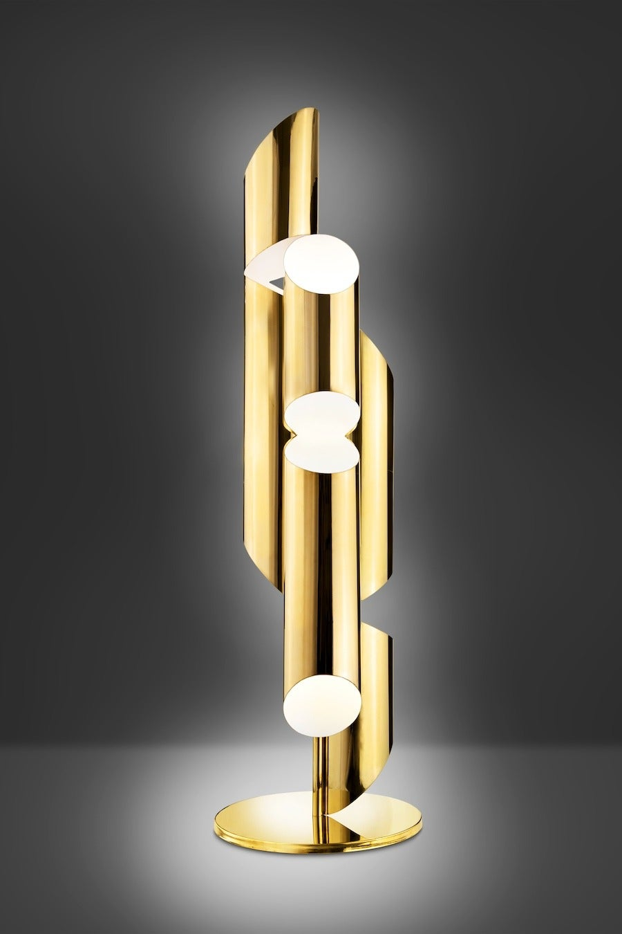 Contemporary Tall Brass Whistle Lamp, Designed by Laurie Beckerman in 2009 For Sale