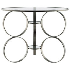 """Rings of Steel"" Table, Designed by Laurie Beckerman in 2006"