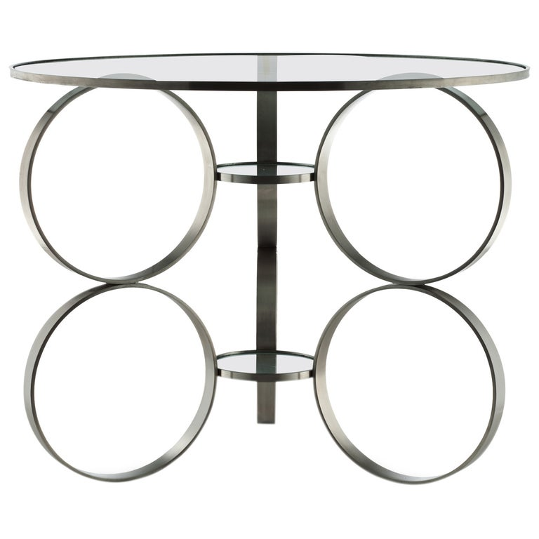 """""""Rings of Steel"""" Table, Designed by Laurie Beckerman in 2006 For Sale"""