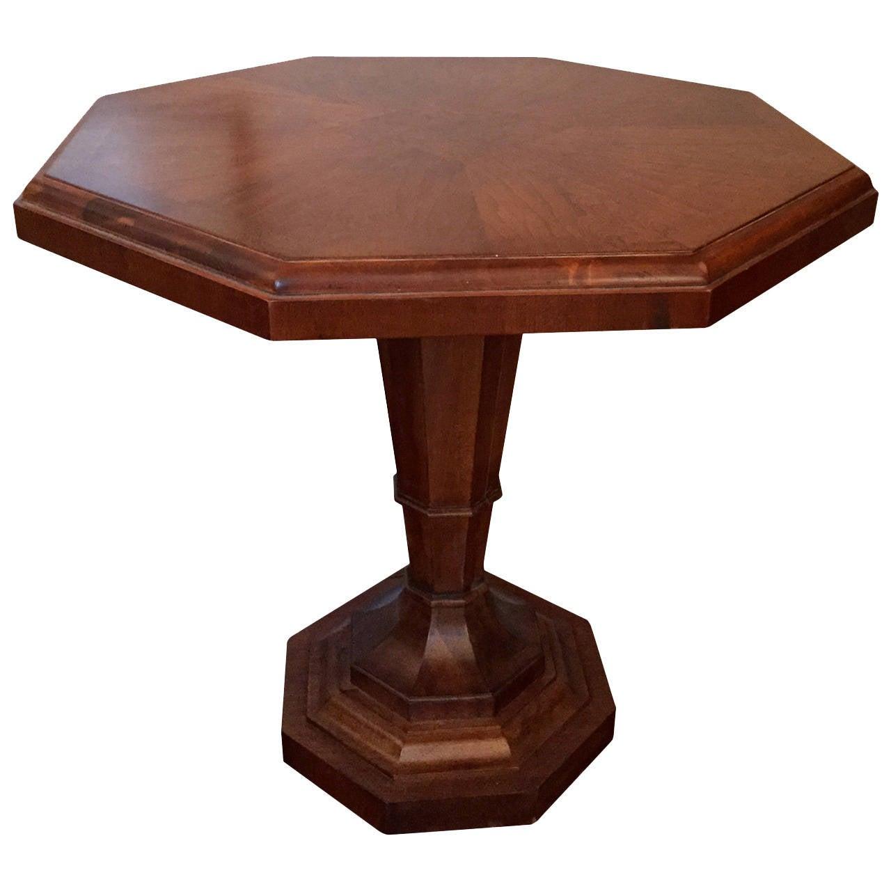Regency Style Octagonal Pedestal Table For Sale At 1stdibs
