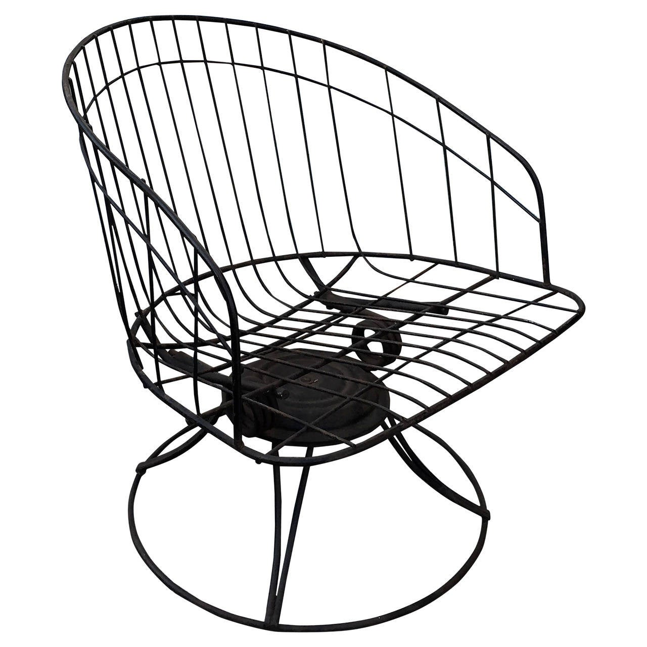 Homecrest Metal Wire Barrel Chair For Sale at 1stdibs